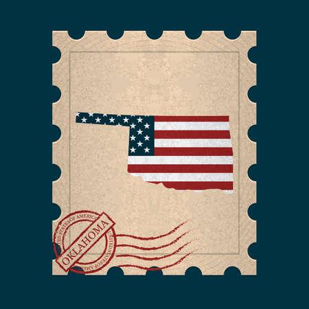postage: Oklahoma postage stamp