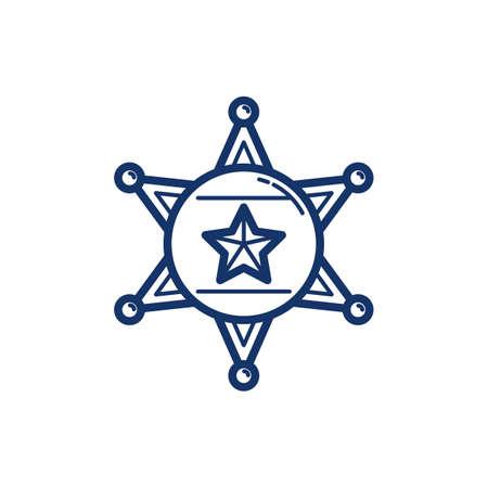 basic law: Sheriff badge Illustration