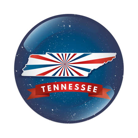 tennesse: Bot�n de mapa de Tennessee