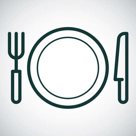 lightweight: Plate with fork and knife