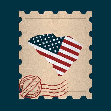 postage stamp: South carolina postage stamp