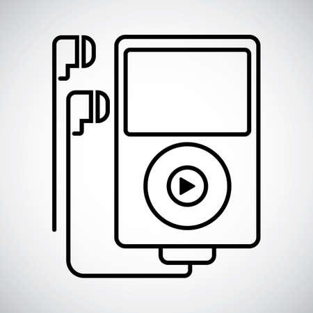 earphones: Music player with earphones