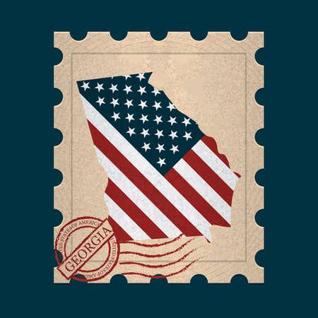postage stamp: Georgia sello de correos