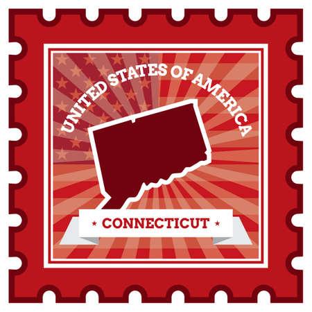 sello postal: Connecticut sello de correos