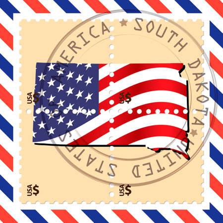 south dakota: South Dakota stamp
