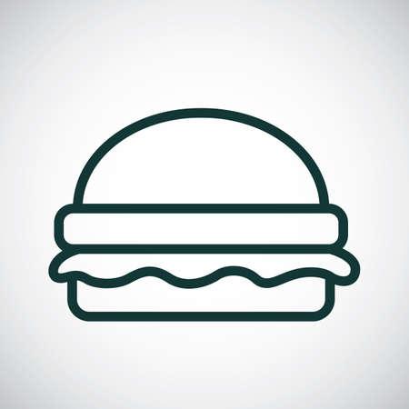 minimal: Burger Illustration