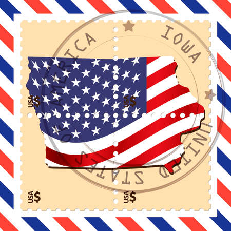 iowa: Iowa stamp