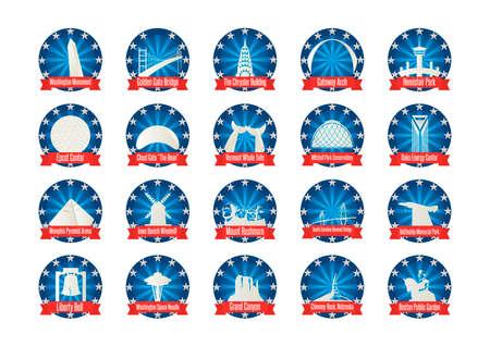 Collection of USA landmarks