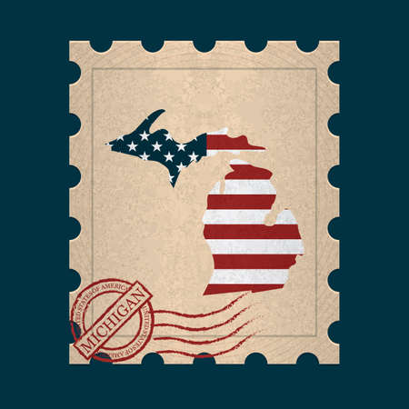 michigan: Michigan postage stamp