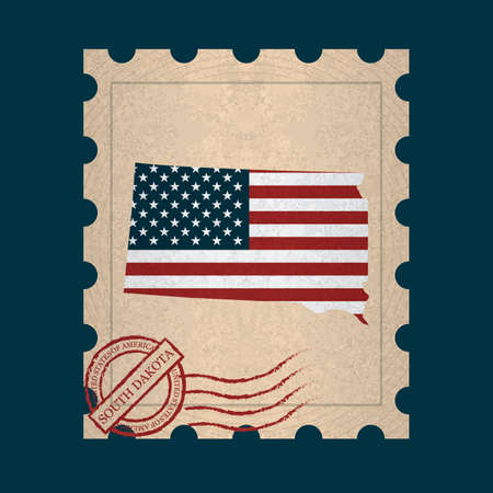 sello postal: South dakota sello de correos
