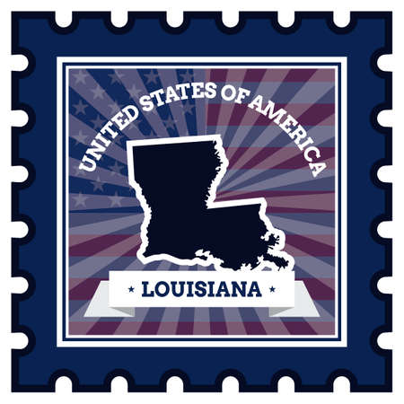 postage stamp: Louisiana postage stamp