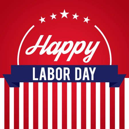 Happy labor day design Vectores