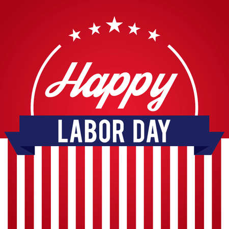 Happy labor day design Illustration