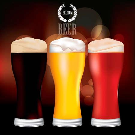 beers: Beer in glasses