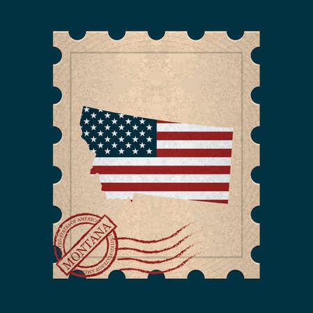 postage: Montana postage stamp