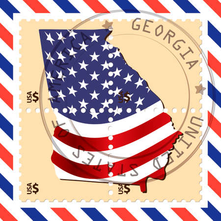 philately: Georgia stamp Illustration