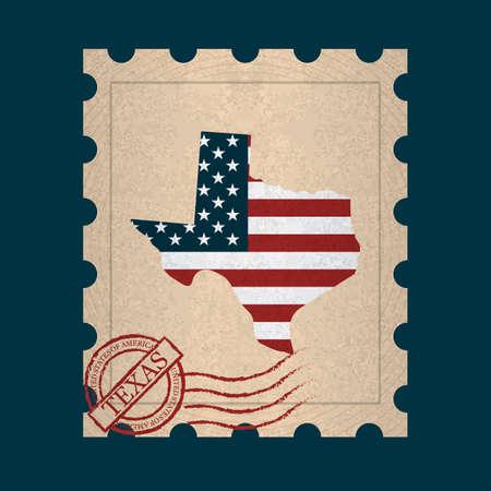 postage: Texas postage stamp