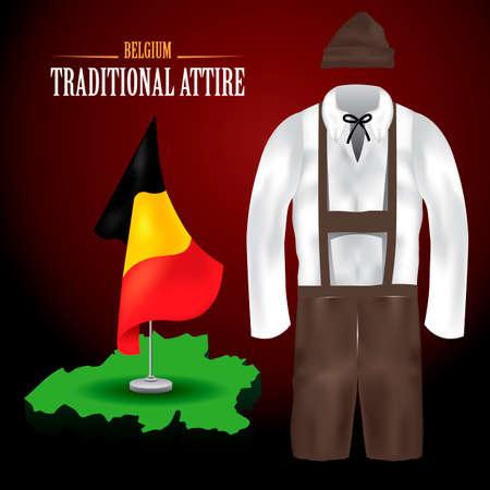 bavarian culture: German traditional attire Illustration
