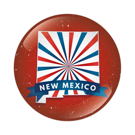 new mexico: New Mexico map button Illustration