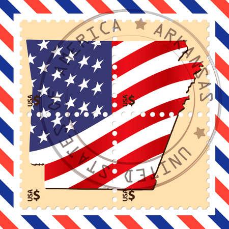 arkansas: Arkansas stamp