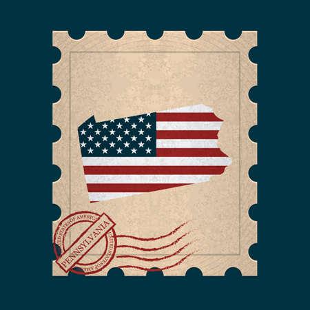 pennsylvania: Pennsylvania postage stamp