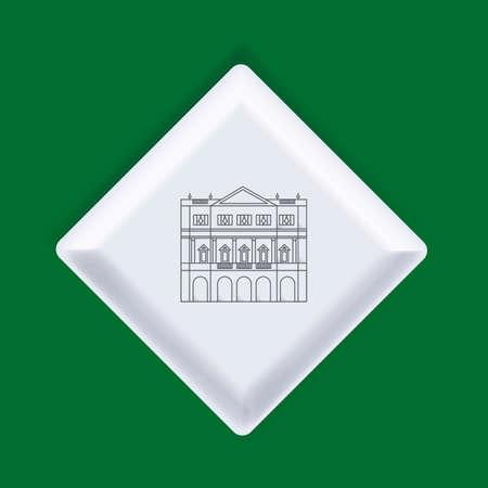 scala: La scala opera house Illustration