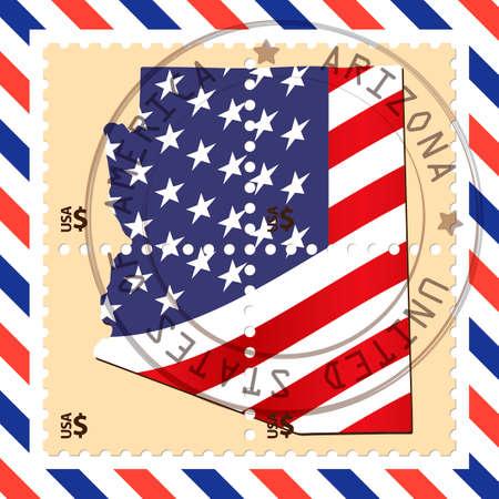 philately: Arizona stamp Illustration