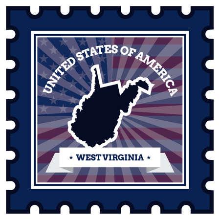 postage stamp: West Virginia postage stamp