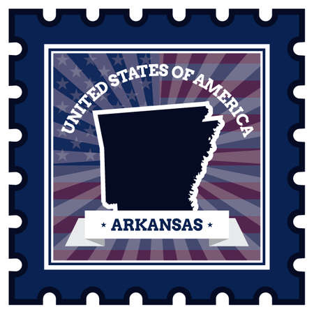 postage stamp: Arkansas postage stamp