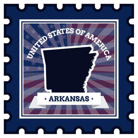 sello postal: Arkansas sello de correos