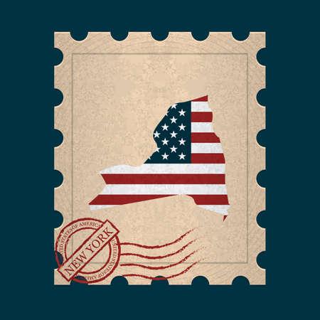 sello postal: Nueva York sello de correos