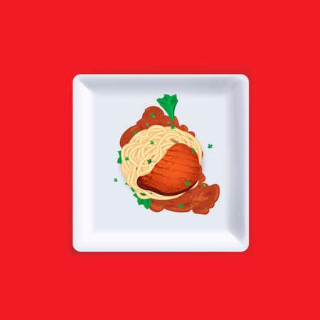 bolognese: Spaghetti Illustration