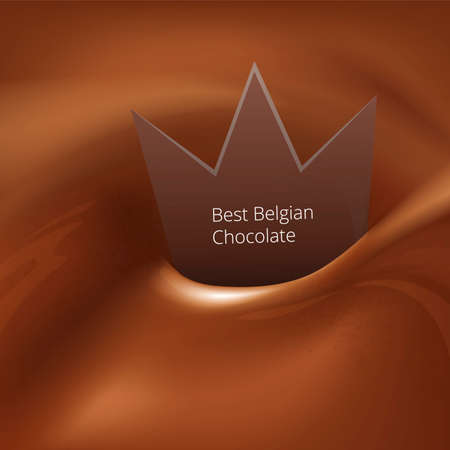 chocolate swirl: Best belgian chocolate swirl Illustration