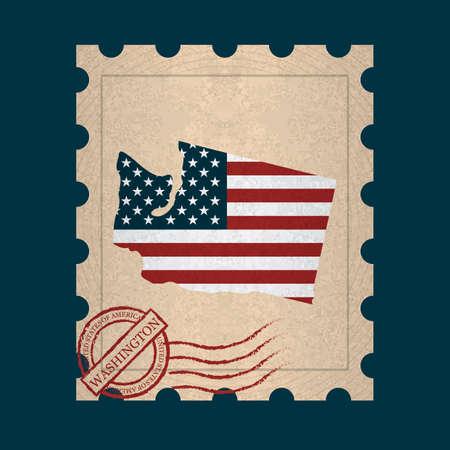 sello postal: Washington sello de correos Vectores