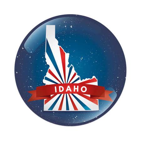 idaho: Idaho map button
