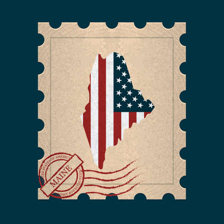 maine: Maine postage stamp
