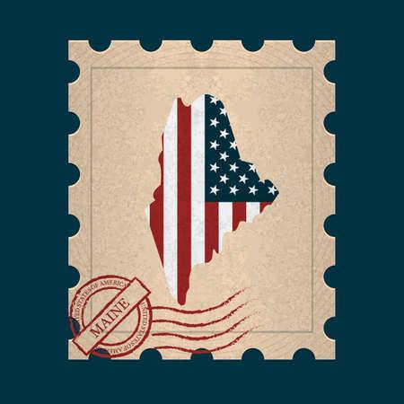 sello postal: Maine sello de correos