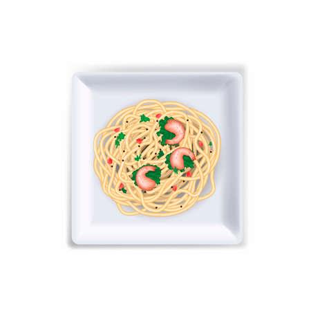 prawn: Spaghetti Illustration
