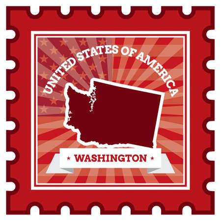 Washington postzegel