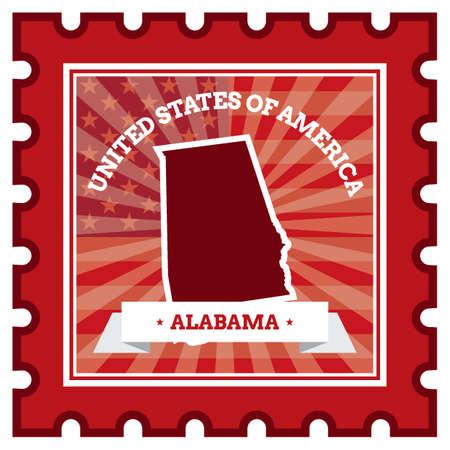 alabama: Alabama postage stamp