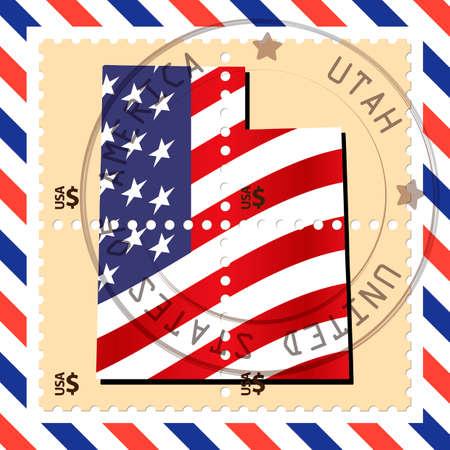 utah: Utah stamp