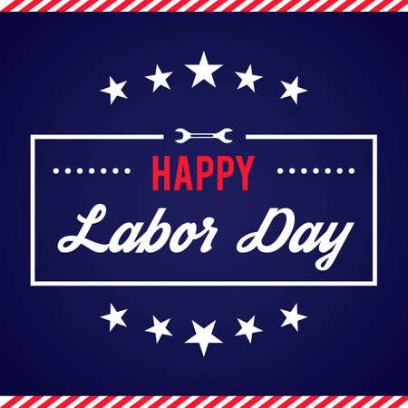 Happy labor day design  イラスト・ベクター素材