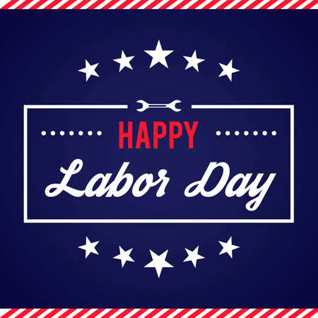 Happy labor day design Çizim