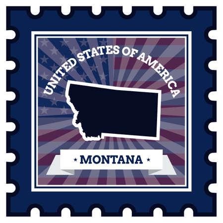 postage stamp: Montana postage stamp