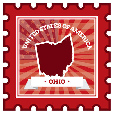 postage stamp: Ohio postage stamp
