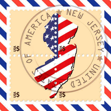 new jersey: New Jersey stamp