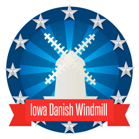iowa: Iowa danish windmill Illustration