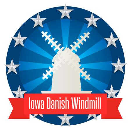 iowa: Iowa danish windmill Illustration