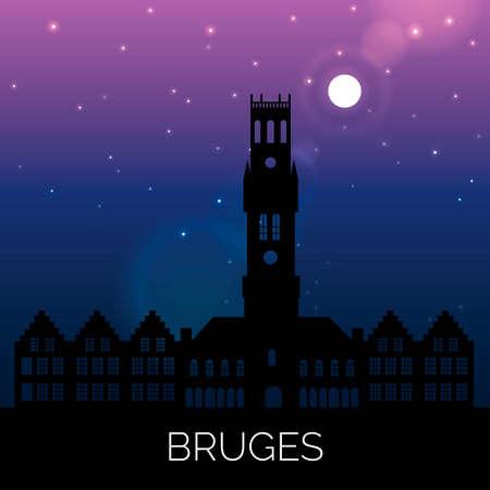 moon  metropolis: Bruges Illustration