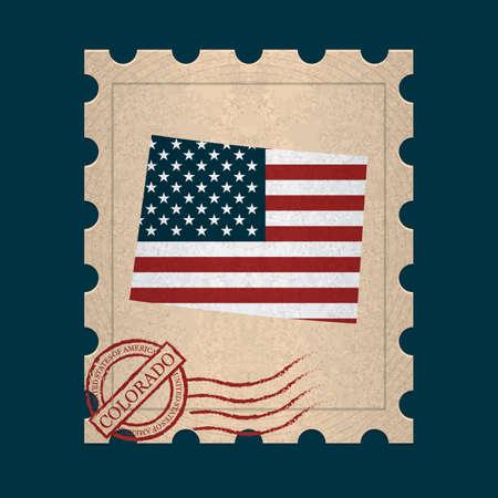 sello postal: Colorado sello de correos